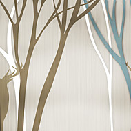 JAMMORY Trees/Leaves Wallpaper Contemporary Wall Covering,Canvas Large Mural Nordic Style