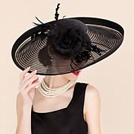 Femme Plume / Tulle / Soie Casque-Mariage / Occasion spéciale / Décontracté Coiffure / Chapeau 1 Pièce