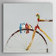 handgemaltes Ölgemälde Tier Vögel bleiben auf dem Rad mit gestreckten Rahmen