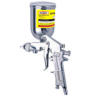 rewin® gereedschap pneumatische verfspuit bovenste pot spuitpistool (f-75g)