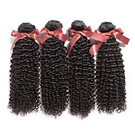 7A Grade Brazilian Virgin Hair Kinky Curly Hair Unprocessed Human Hair Brazilian Afro Kinky Curly 4 Bundles/Lot