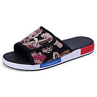 Men's Spring Summer Comfort Slippers Fabric Casual Slip-on 1#