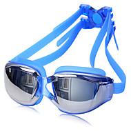 ZHENYA Lunettes de natation Unisexe Antibrouillard Etanche Taille ajustable Anti UV Gel de silice Polycarbonate UV Gris Noir BleuGris