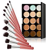 15 barev obrys krém na obličej make-up korektor paleta + prášek kartáč na korektor nadace červeň