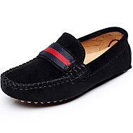 Boy's Boat Shoes Spring / Summer / Fall Moccasin Leather Outdoor / Casual / Athletic Flat Heel Braided Strap / Slip-on Black / Red / Gray
