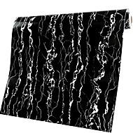 0.6*1M Furniture Just Marble Adhesive Waterproof Cabinet Wardrobe Sticker Black Gold Wallpaper