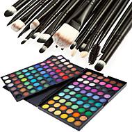 fosco deslumbrante 120 cores profissional&brilho 3in1 sombra palette cosmético com 20 sombra jogo de escova