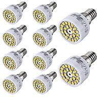 3W E14 LED 스팟 조명 T 24 SMD 2835 300 lm 따뜻한 화이트 / 차가운 화이트 장식 AC 220-240 V 10개