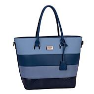 DAVIDJONES/Women PU Baguette Shoulder Bag / Tote / Satchel / Cross Body Bag-Blue