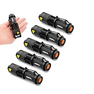 ls1900 6pcs 2000lm 1-modus Cree Q5 ledet zoomable fokus justerbar lommelykt lommelykt aa / 14500 lommelykt