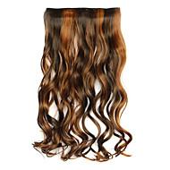 nero e marrone lunghezza 60cm sintetici cinque carte e capelli ricci lunghi capelli tre parrucche (colore 4ah27a)