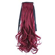 rot Länge 50cm Großverkauf der Fabrik binden Typ curl Schachtelhalm Haar Pferdeschwanz (Farbe 118c)