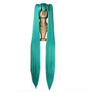 de haute qualité vocaloid miku Hatsune 2 queues de cheval perruque cosplay
