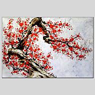 מצויר ביד פרחוני/בוטני ים- תיכוני / פסטורלי / סגנון ארופאי / מודרני / קלאסי / מסורתי / ריאליסטי,פנל אחד ציור שמן צבוע-Hang