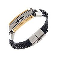 Homme Bracelets Rigides Acier au titane Plaqué or Mode Forme de Cercle Noir Bijoux 1pc