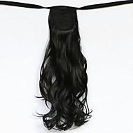 vague d'eau synthétique du type bandage perruque de cheveux de queue de cheval naturel noir