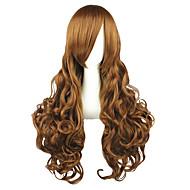 Cosplay Wigs Hetalia Elizabeth Brown Long Anime Cosplay Wigs 90 CM Heat Resistant Fiber Male / Female