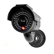 kingneo301s venkovní solární energie dummy bezpečnostní kamery simulované dohled fotoaparát s bleskem vedl 1ks černý