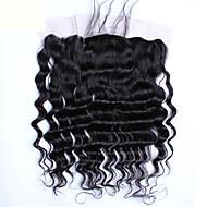 Trame cheveux avec fermeture Cheveux Brésiliens Ondulation Lâche 12 mois 4 Pièces tissages de cheveux