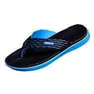 Masculino-Chinelos e flip-flops-Chinelos-Rasteiro-Preto / Azul / Verde / Laranja-Borracha-Casual