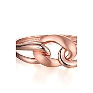 Женский Браслет цельное кольцо Позолоченное розовым золотом 18K золото Мода Геометрической формы Розовое золото Бижутерия 1шт