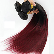 1 шт. Прямые Ткет человеческих волос Бразильские волосы Ткет человеческих волос Прямые
