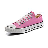 Kerek orrú-Lapos-Női cipő-Tornacipők-Szabadidős-Vászon-Sötétvörös