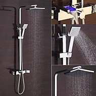 New Design Contemporary Chrome Finished 8 Inch In Wall LED Shower Set with Shower Head and Hand Shower/LED Shower Faucet