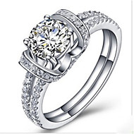 Band Rings Silver Sterling Silver Platinum Plated Fashion Silver Jewelry Wedding 1pc