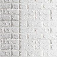 3D Ziegel Tapete Für Privatanwender Zeitgenössisch Wandverkleidung , PVC/Vinyl Stoff Selbstklebend Tapete , Zimmerwandbespannung