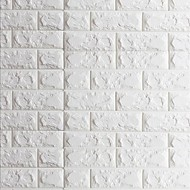 3D Tijolo Papel de Parede Para Casa Contemporâneo Revestimento de paredes , Vinil Material Auto-adesivo papel de parede , quarto