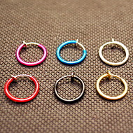 Earring Circle Jewelry Women / Men Fashion Daily / Casual Alloy 1 pair Black / Red / Blue / Purple