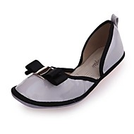 Non Customizable Women's Dance Shoes Leatherette Leatherette Ballet Flats Flat Heel Practice / Beginner Black