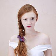 Femme Alliage Casque-Décontracté Pique cheveux 1 Pièce Pourpre Rond 0