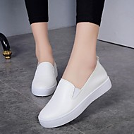 Women's Shoes Leather Spring / Summer / Fall Ballerina / Espadrilles Loafers / Casual Flat Heel OthersBlack / Pink /