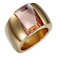 Široké prsteny Zirkon 18K zlatá crossover Módní Nastavitelná Rozkošný Stříbrná Zlatá Šperky Svatební Párty Denní Ležérní 1ks