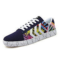 Men's Rainbow Shoes PU Athletic Sneakers Athletic Sneaker Flat Heel Black / Blue / Red