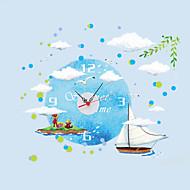 Yuvarlak / Yenilik Modern/Çağdaş / Geleneksel / Günlük / Ofis/İş Duvar Saati,Denizle İlgili / Aile / Karton Diğerleri 90*30*0.1