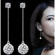 Imitert Perle Mote Bedårende Perle imitasjon Diamond Legering Sirkelformet Sølv Smykker Til Fest Daglig 1 par