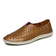 Chaussures Hommes-Décontracté-Bleu / Marron / Kaki-Cuir-Sandales