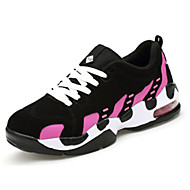 Women's Shoes PU / Tulle Spring / Fall Round Toe Flats Athletic / Casual Flat Heel Others / Hook & LoopRed / Black