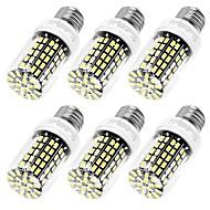 10W E12 / E26/E27 LED corn žárovky T 108 SMD 5733 950 lm Teplá bílá / Chladná bílá Ozdobné AC 110-130 V 6 ks