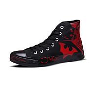 גברים-נעלי ספורט-קנבס-מעוגל-שחור / כחול / צהוב / שחור ואדום-שטח / ספורט / קז'ואל-עקב שטוח