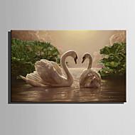 LED-es vászon dekor Állat Modern / Európai stílus,Egy elem Vászon Vízszintes Print Art fali dekoráció For lakberendezési