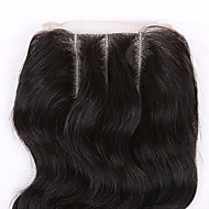 2 PCS/package  Brazilian Virgin Hair Natural Color Hair Pieces Lace Closure 3.5x4 Inch Natural Body Wave 3 Parts