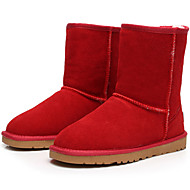 women's snow boots with fur Mid-Calf shoes /Black/Brown/Yellow/Gray/Red/Beige