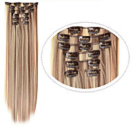 Synthetic Cosplay Hair Clip in Synthetic Hair Extention #12/613 Mix Color 7pcs/set 22inch Hair Extentions