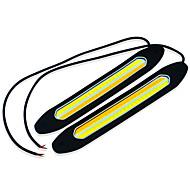 jiawen לבן + צהוב-קלח 2 אור הוביל היום מכונית 400lm ריצה קלה (12V DC / 2pcs)