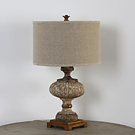 Single Head Creative Vintage Retro Wooden Painting Table Lamp Decorate in the House Living Room / Study Room Dest Light