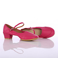Customizable Women's Dance Shoes Leatherette Leatherette Latin / Dance Sneakers Heels Low Heel Indoor / PerformanceBlack